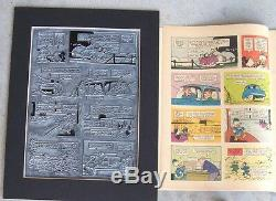 Walt Disney's Donald Duck Vintage 1962, Plaque D'impression Et Page Uniques En Leur Genre