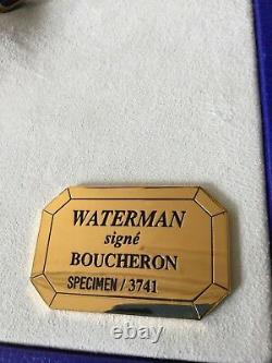 Waterman Edson Boucheron Ltd Edition Stylo De Fontaine Nib L'un D'un Genre De Spécimen