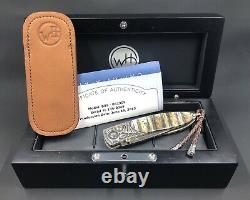 William Henry Knife Collectors Series One Of A Kind Juin 2013 Fossil Mammouth