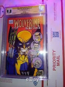 Wolverine # 1 Avec Croquis Original Par Un Franck Uzan- D'une Sorte De 3 En 1 Hommages