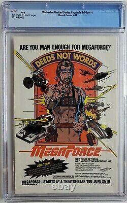 Wolverine #1 Cgc 9.2 Limited Series 1982 Cgc Error One Of A Kind Not Facsimile