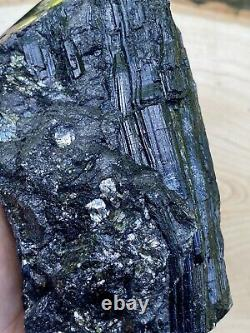 XL Raw A+ Black Tourmaline Self Standing/unique/one Of A Kind Piece