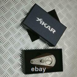 Xikar Xi3 Macassar Ebony Cigar Cutter Custom Main Gravée Une Sorte