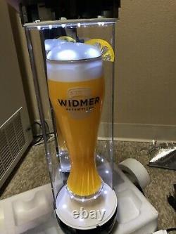 (nouveau) 24 H Widmer Hefeweizen Spinning Verre Lumière Signe Bière, Un Des Types